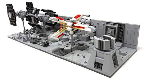 Modbrix Bausteine Trench Run Diorama mit Flügler, Jäger & Advanced X1, 577 Klemmbausteine
