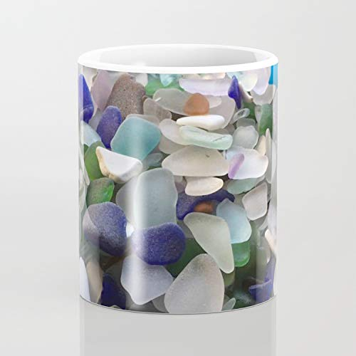 Juego de 2 tazas de café de cristal de mar de 325 ml