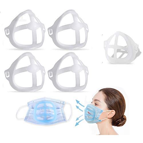 (5 unidades).jansin Soporte interior para barra de labios 3D, respira cómodamente, protege tus labios labiales, soporte de silicona anticosas, soporte para puente nasal
