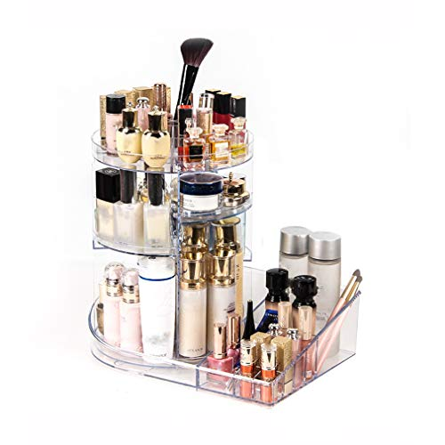 YUQIBXC Acryl Cosmetica Organisator 360 graden Roterende Make-up Organizer Extra Grote Capaciteit Verstelbare Multifunctionele Cosmetische Opbergdoos voor Dresser, Slaapkamer, Badkamer