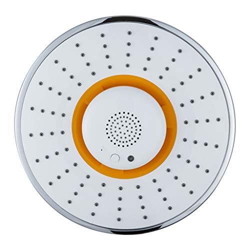 Handbrausen Head Showerhead-Hochdruck, Bluetooth-Duschlautsprecher, wasserdichter tragbarer drahtloser Top-Spray-Musik-Duschkopf (Farbe : Gelb)