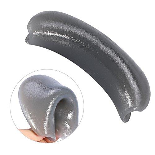 HelloCreate Almohada vertical suave durable del resto del cuello del tazón del champú del silicón para el fregadero del lavado del pelo
