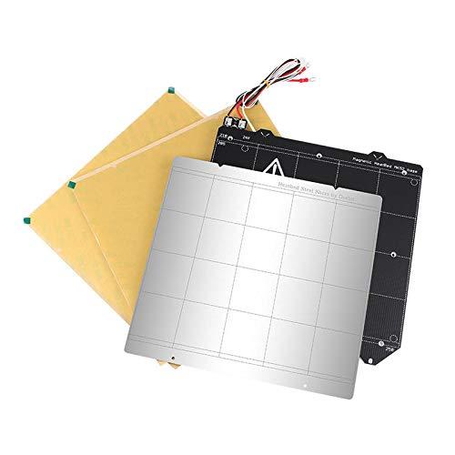 RLJJCS MK52 Heated Bed Platform Steel Plate + Magnetic Het Bed Build Open+ 2 x PEI Sheet Kit for Prusa i3 3D Printer Part