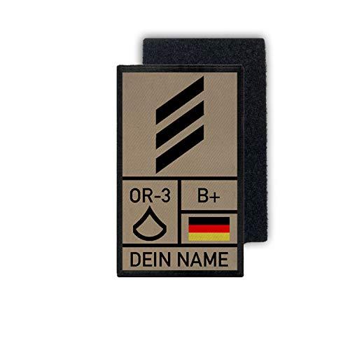 Copytec Rank Patch 9,8x6cm HG Tropen mit Namen Hauptgefreiter Bundeswehr #35299