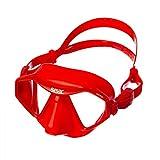Seac Unisex-Adult M70 Platzsparende Tauchmaske zum Freitauchen und Schnorcheln, rot, Standard