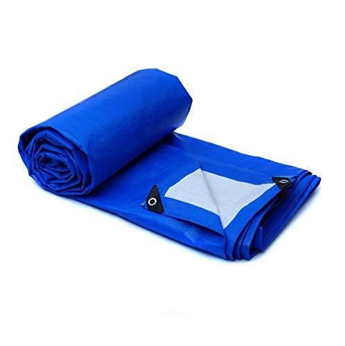 LYZP Outdoor-Camping-Plane, Strapazierfähiges Polyethylen Wasserdicht UV-Sonnencreme Markise Auto-Pool-Plane, 175g / M2 Dicke 0,32 Mm, Blau (größe : 8x6m)