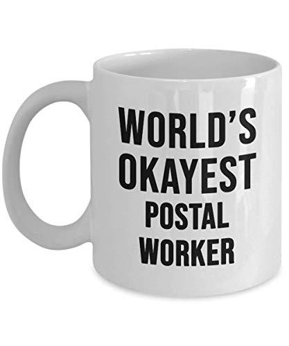Taza de trabajador postal más aceptable de Funny World - Idea de regalo única Regalo de cumpleaños Novedad Taza de café para hombres Mujeres Gracias Agradecimiento Navidad