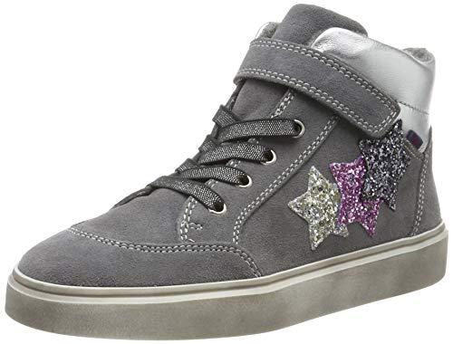 Richter Kinderschuhe Mädchen Ryana Hohe Sneaker, Grau (Ash/Silver/Cand/Stee 6301), 26 EU