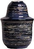 JHYS Set da Sake Giapponese, Set da 3 Pezzi Tazze in Ceramica con Design Smaltato Blu, Bicchieri da Vino Artigianali, per Freddo/Caldo/Shochu/tè Miglior Regalo per la Famiglia e Gli Amici