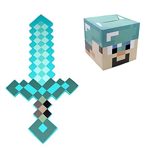 LJB Modelo De Arma De Espada De Diamante Alrededor del Juego De Minecraft, Juguete De Nio De Herramienta De Lmpara De Minero