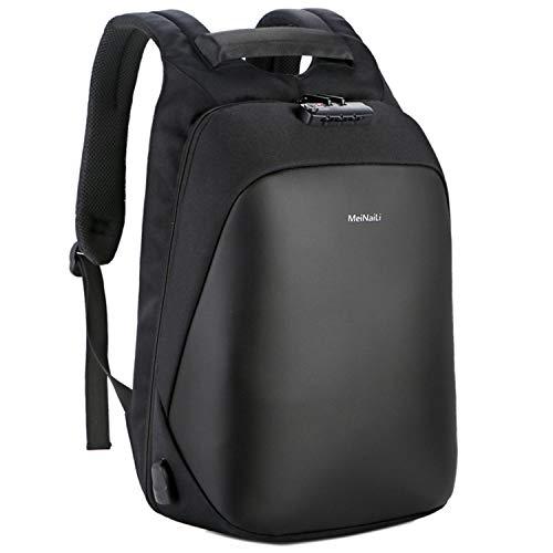 Ghosthunter Backpacks Herren Sicherheits-Rucksack, Diebstahlschutz, multifunktional, männlich, mit USB-Ladefunktion, Schwarz - Schwarz - Größe: Einheitsgröße