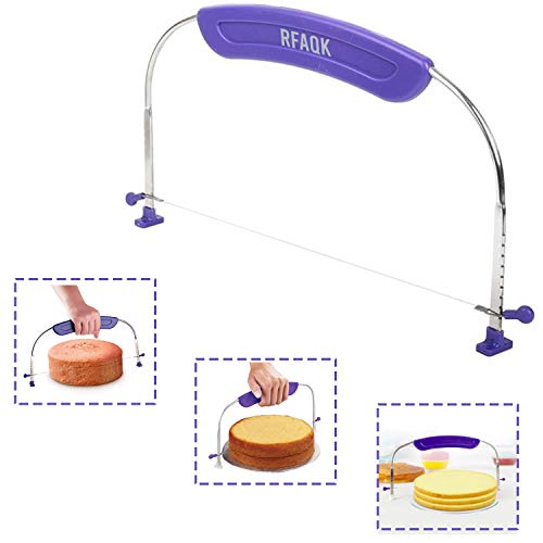 RFAQK Adjustable and Numbered Cake leveler for levelling Layers Cake Decorating Cutter and Accessory for Slicing Make Slices of your cake like a pro Baking supplies and Tool