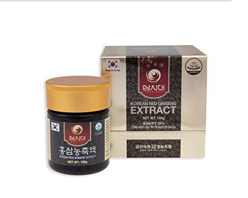Ginseng Rojo Coreano Extracto 100g concentrado 100% natural - Curación de 3 meses - Alto contenido de saponinas 80mg/g - ginsenósidos Rg1, Rb1, Rg3 > 6 mg/g.