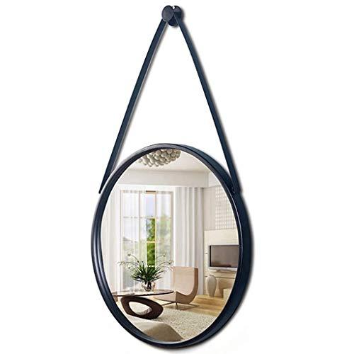 Miroir Cosmétique Miroir grossissant Nordic Modern Style Miroir, rond, diamètre 70 cm, brun, or, noir, blanc, tenture, multi-fonction décorative Miroir, Miroir salle de bains salle de bain Miroir téle