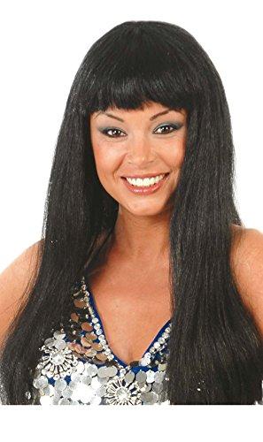 Longhair perruque pour les femmes perruque carnaval noir