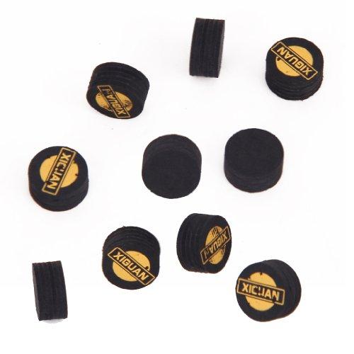 FLAMEER Accessori Biliardo Cue Tips da Biliardo 10 Pezzi/Confezione - Multicolore, 14mm