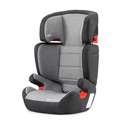 Kinderkraft Seggiolino Auto JUNIOR FIX, con Isofix, Poggiatesta Regolabile, per Bambini, Gruppo 2/3, 15-36 Kg, Grigio