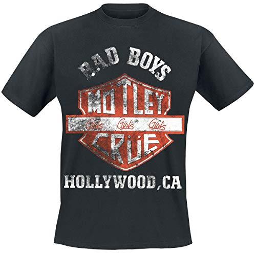 Mötley Crüe Hombre Camiseta Negro, Regular