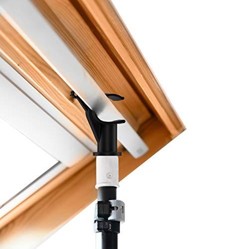 ILASKY® Teleskopstange für Velux® Öffner für Dachfenster, Dachfenster und Jalousien, starker Haken (1,1–2 m)