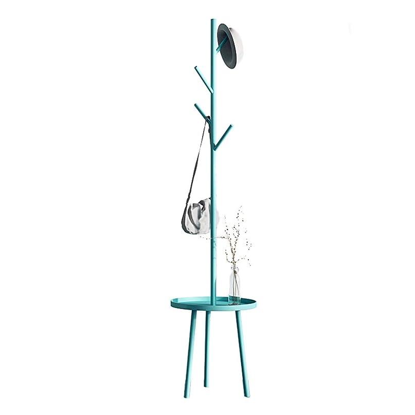 受取人群衆綺麗なハンガー, 金属鍛造鉄分岐フックトレイシェルフアセンブリ三角サポート TINGTING-ハンガーラック (Color : Blue, Size : 40*182cm)