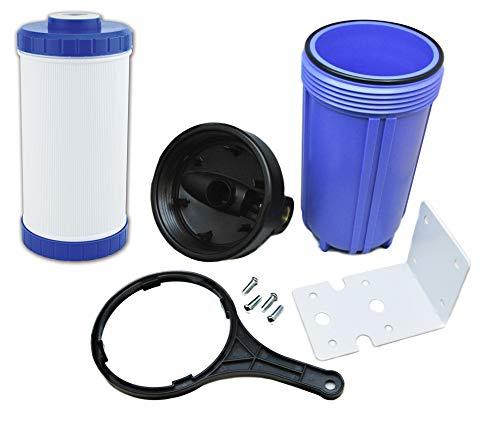 Finerfilters Sin sal/sal sin agua alternativa - Descalcificador de agua, sistemas de prevención de cal (sistema Jumbo de 10