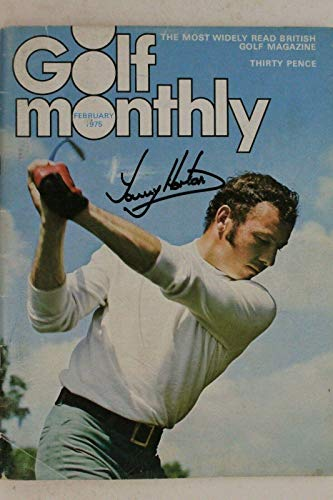 Sale!! Tommy Horton English Golfer (d.17) Autographed Signed 1975 Golf Monthly Magazine - Autographe...
