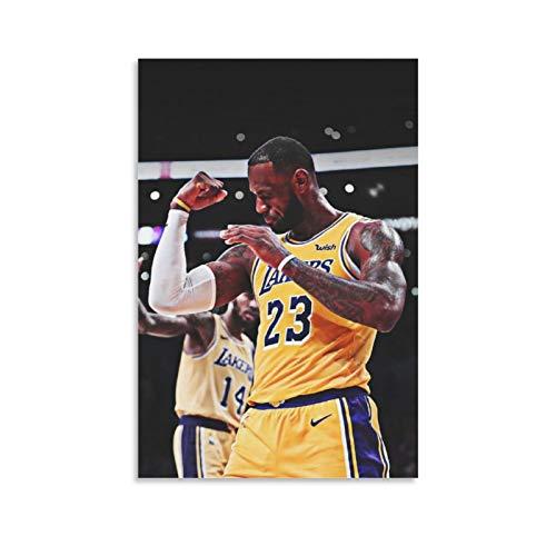 NQSB Póster decorativo de LeBron James 22 del Campeonato de Baloncesto de LeBron James 22, pintura de pared, para sala de estar, dormitorio, 40 x 60 cm