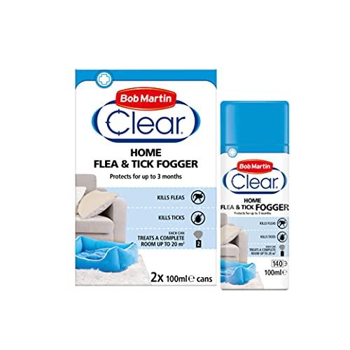 Bob Martin Clear | Home Flea Fogger, Kills Fleas & Ticks on Contact | Effective Flea Treatment for the Home | 3 Month Protection (2 Cans)