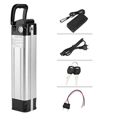 Dpower Prophete, set per bicicletta elettrica Pedelec, batteria agli ioni di litio, tubo della sella, Set batteria 24 V 13,2 Ah 342 W (con caricatore, cavo, chiavi)
