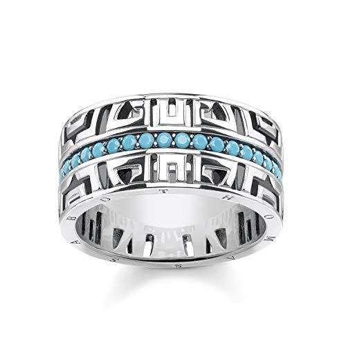 THOMAS SABO Damen Ring asiatische Ornamente 925 Sterlingsilber, Geschwärzt TR2168-667-17