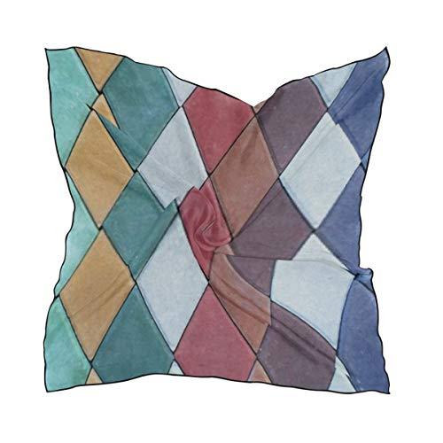 Damenmode Schals, farbige Pflastersteine von Mosaic Closeup Square Seide Gefühl Haar Schal Wrap Kopftuch 23.62