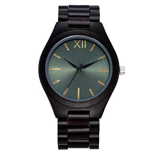 Relojes para Hombres Reloj deMadera CompletoRelojesdePulsera Hechos a Mano para Hombres Mujeres Negro