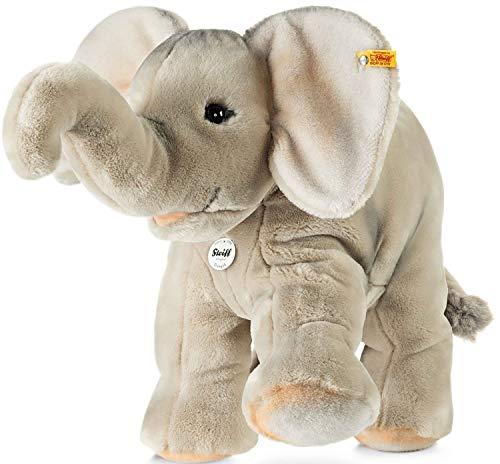 Steiff Trampili Elefant - 45 cm - Kuscheltier für Kinder - Plüschelefant - weich & waschbar - grau - (064043)