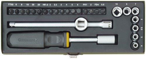 """Proxxon 23 072 Kit Compacto de Atornillado 1/4"""". Para Modelistas y Reparación de Bicicletas"""