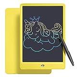 A/N LCD - Lavagna da disegno con schermo colorato da 10 pollici, con funzione anti-clearance, ricambio ottimale della carta, regalo per bambini, adulti, Home School Office (giallo)