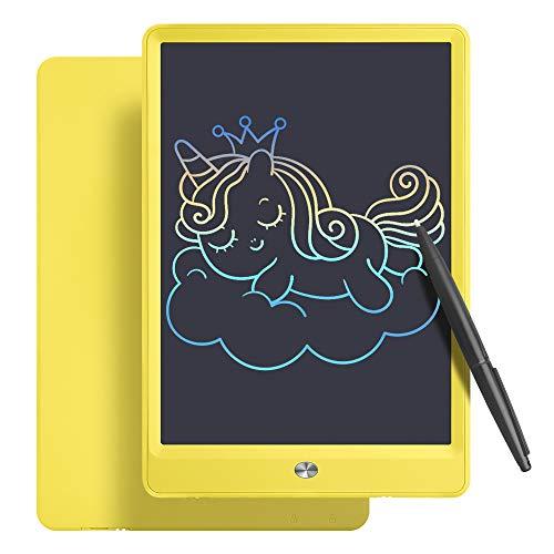 A/N - Lavagna da disegno LCD con schermo colorato, 10 pollici, cancellabile per bambini, tavoletta grafica con interruttore, regalo per bambini e adulti (10 pollici, giallo)
