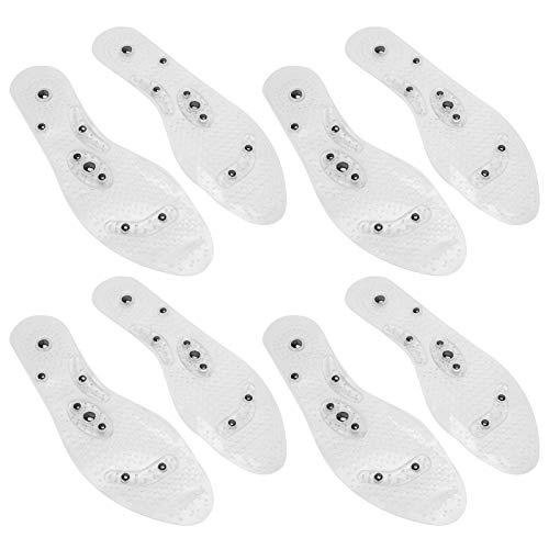 磁気靴の中敷き、4ペアの再利用可能な磁気靴パッド磁石マッサージ中敷き大人の男性女性のための高齢者(L)