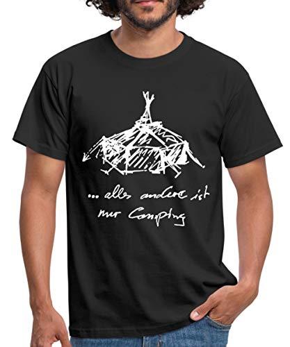 Kothen Jurten Alles Andere Ist Nur Camping Männer T-Shirt, S, Schwarz