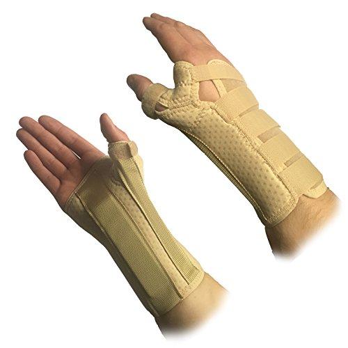 Solace - Muñequera ortopédica cómoda y protectora con soporte para mano, muñeca...
