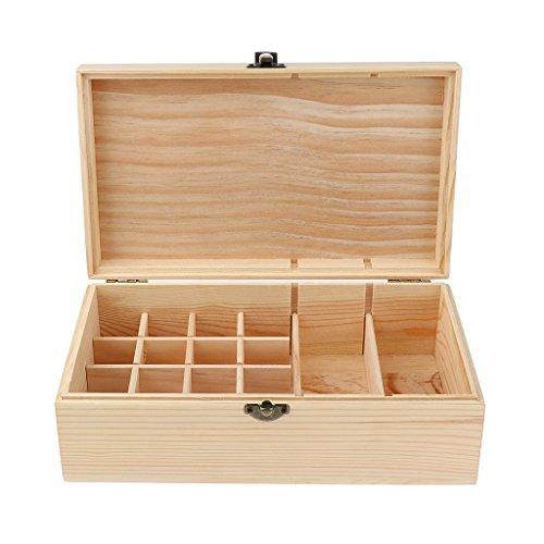 Aufbewahrungsbox, ideal als Ätherische Öle Flaschen Box, Liquidflaschen Kasten, Schönheitsstudio, Shops, Hause Präsentation - 18 Slots 15ml, 25.2x14.6x8.3cm