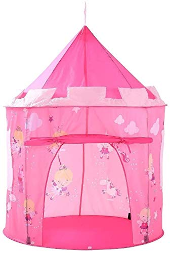 Kids Tent Play House Leuke Tent Roze Kasteel Angel Play Tent Cloud Pop Up Opvouwbaar Princess Grote Playhouse Teepee for Jongens Meisjes Indoor Outdoor Fun Childrens Teepee Girls And Boys