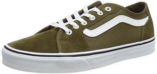 Vans Herren Filmore Decon Suede Sneaker, Wildleder Canvas Military Olive Weiß, 44.5 EU