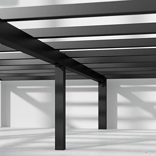 Zinus Yelena 14 Inch Classic Metal Platform Bed Frame with Steel Slat Support / Mattress Foundation, Queen
