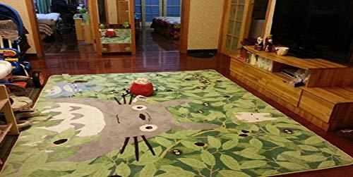 Alfombra de dibujos animados única TOTORO antideslizante lavable grande para niños guardería y entretenimiento, para sala de estar, cama, 130 x 180 cm, 71 x 51 pulgadas