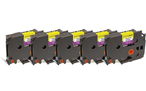 5x TZe335 TZe 335 Bianco su Nero 12mm x 8m Cassetta Nastro per Etichette compatibile per Brother P-Touch PT-1000 1005 1010 3600 D210 D210VP D400 D450VP D600VP H101C H101GB H105 H110 H300 P700 P750W