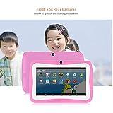 Sylvialuca Tablet PC para niños de 7 Pulgadas Android 4.4.2 Tablet 1.5GHZ Quad Core 8GB WiFi Tablet 1024x600 HD Screen Dispositivo de educación Infantil
