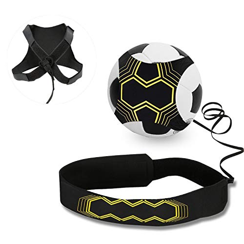 LGVSHOPPING Trainer da Calcio per Bambini e Adulti - Un Aiuto per Migliorare il Controllo di Palla - Attrezzatura per L'allenamento Individuale con Cintura Regolabile - Cintura Sport Calcio Allenamento Scuola Calcio