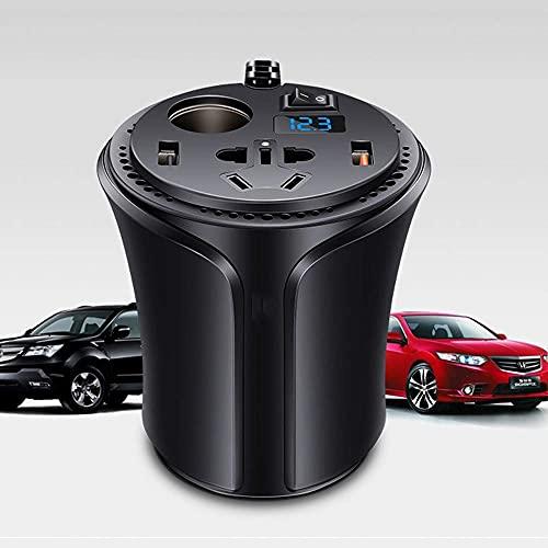 Daily Accessories Inverter 12V 150W Pure Sine Wave Inverter Car Charger Inverter 220V Power Cigarette Lighter Conversion Plug Black A