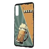 スマホケース ハードケース Galaxy A7 用 BEER ビール・グリーン ビンテージ アメリカン レトロ USA SAMSUNG サムスン ギャラクシー エーセブン SIMフリー すまほカバー 携帯ケース 携帯カバー beer_00z_h191@03
