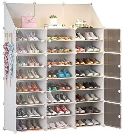 miaomimi Home School Dormitory Shoes Acabamiento Zapatero Instalación Capas Blanco Puro Espejo Zapatero